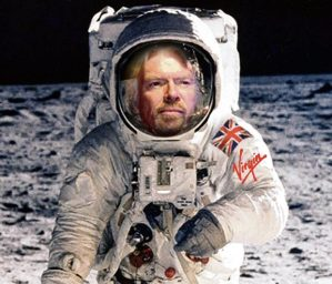 Branson on the Moon